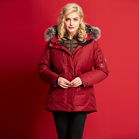艾迪雅兰仕新款羽绒服女冬季保暖鹅羽绒服修身短款