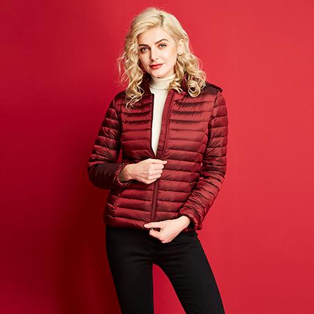 艾迪雅兰仕新款羽绒服女冬保暖修身韩版短款